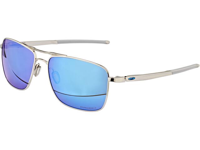 Oakley Gauge 6 Gafas de sol Hombre, polished chrome/prizm sapphire